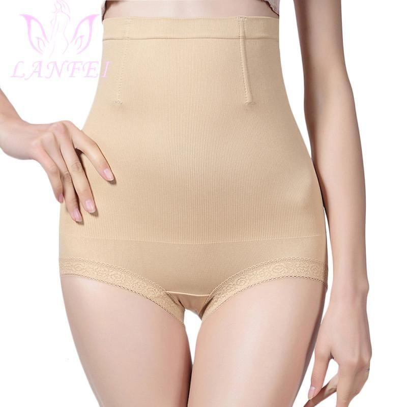 LANFEI Женщины высокой талией Shaping Panty 360 Пластика Control Body Shaper для похудения Lace Нижнее белье живота управления BuLifter Трусы