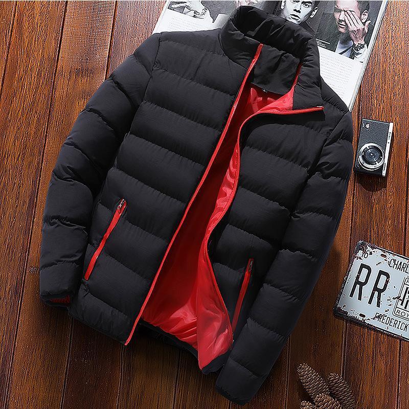 Autumn winterstars jacket men's fashion stand collar men's parka jacket solid thick and coat men winter coat