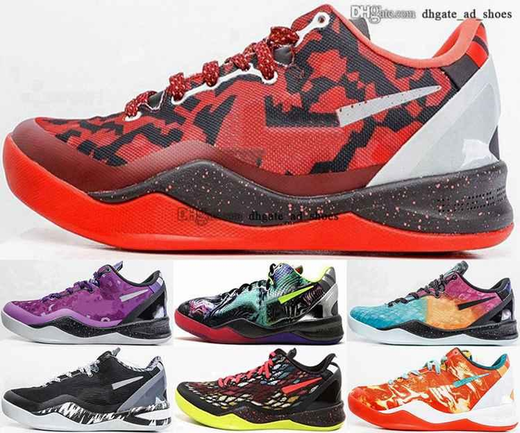 Ayakkabı 47 12 VIII Klasik Erkekler 8 Boyutu ABD Beyaz Sepetleri Sneakers 2020 Yeni Varış 38 Basketbol 46 Mamba Ne Siyah EUR Women 13 Eğitmenler