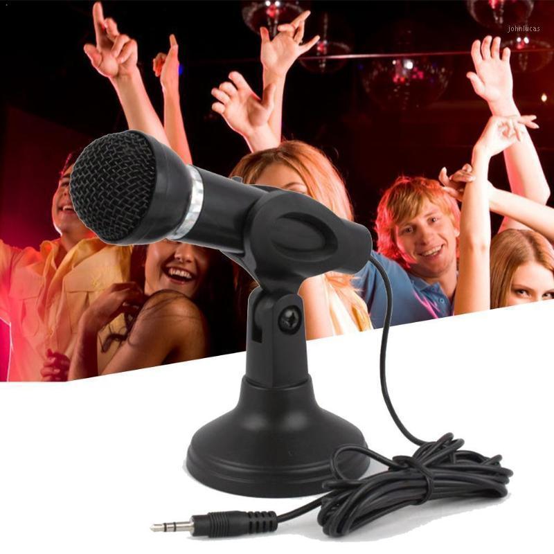 Microfone Condensador 3.5mm Plug Home Stereo Mic Desktop YouTube Gravação para PC Gaming Chatting Podcast Skype Stand Video F1i21