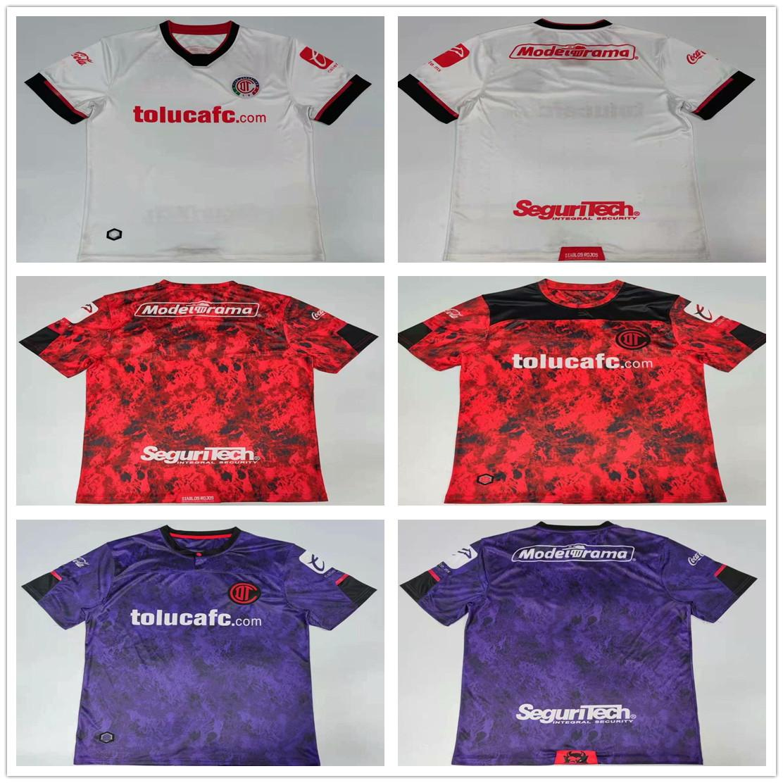 Liga MX 2020 2021 Deportivo Toluca Soccer Jerseys home away 3rd 20 21 Raul Lopez Alexis Canelo Michael custom mens football shirt uniforms