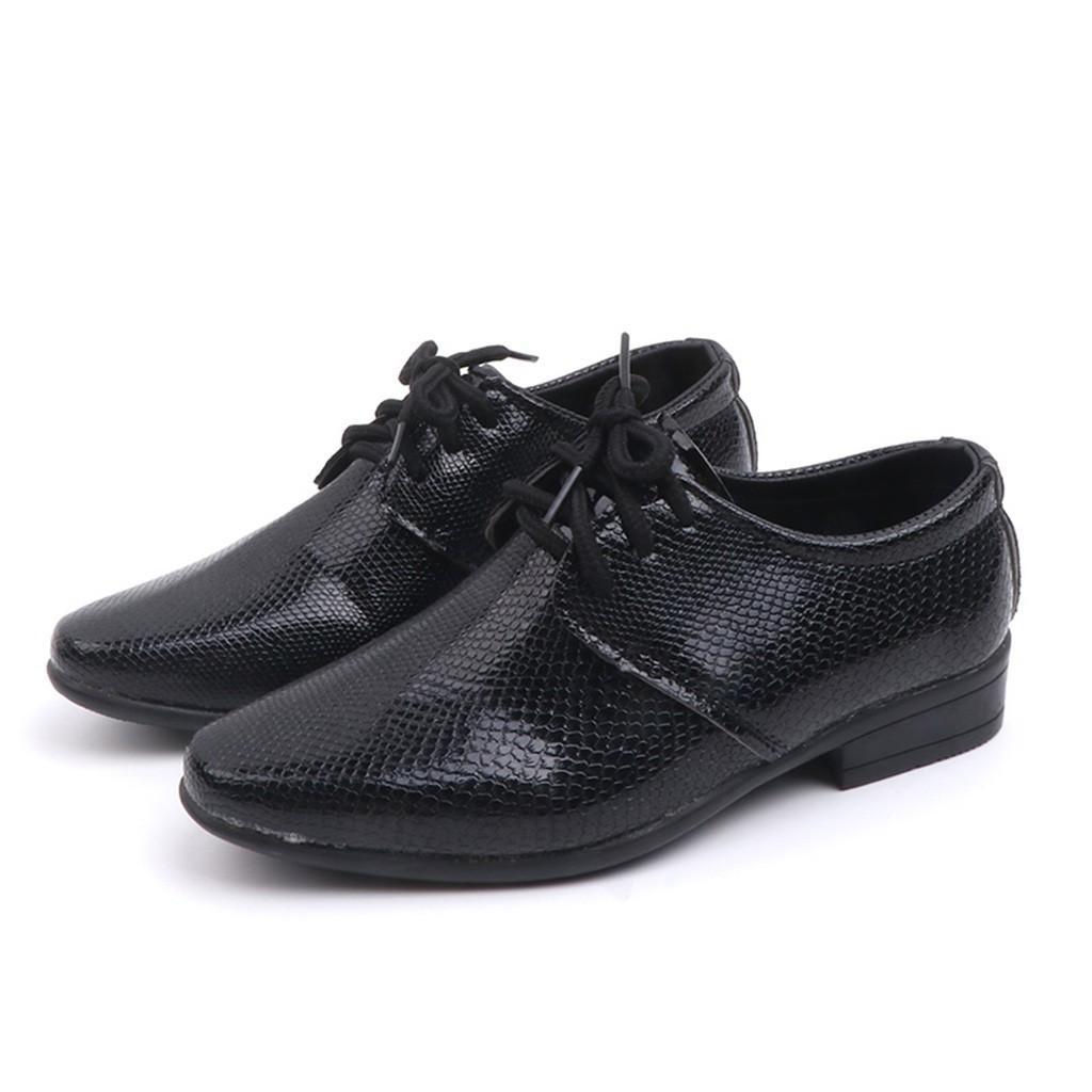 Nueva genuino para niños de vestir para la marca de 2020 zapatos de los niños de la boda Negro zapatillas de chicos de cuero de la cuña formal