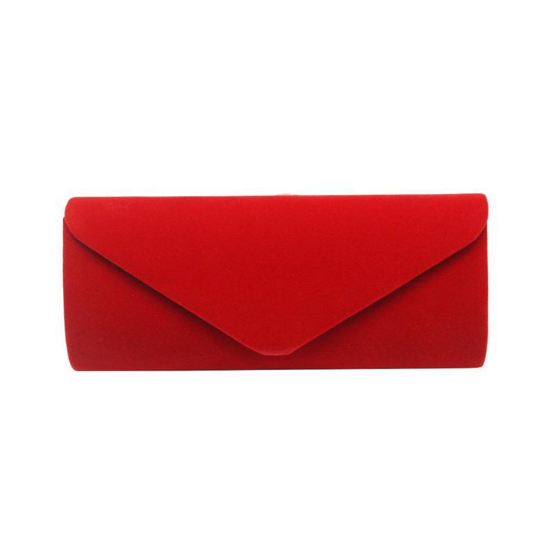 Sac d'embrayage de l'enveloppe de velours de haute qualité Femme Femme Femme Design Sac d'embrayage de soirée élégante