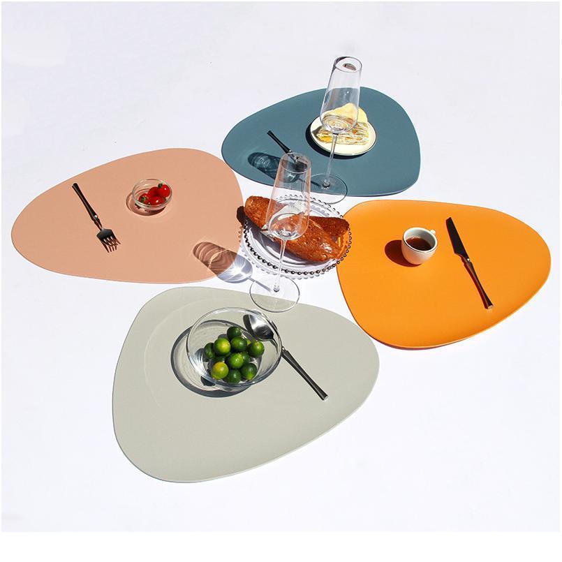 2/3 / 4 pcs colocar mesa de mesa almofada de mesa placemat mesa tapete isolamento térmico PU placemats coaster coaster cozinha sqceix