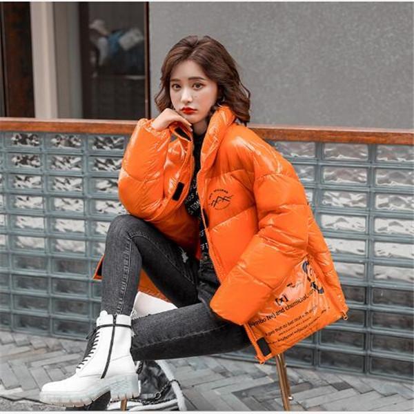 2020 temperamento inverno nuovo luminoso stampa versione corta giacca imbottita da donna pro piumini imbottiti parka