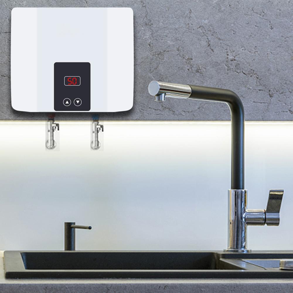 Chauffe-eau sans réservoir instantanée site de ce marchand eau électrique mural Chauffe-eau Thermostat rapide chauffage douche chaude pour la cuisine salle de bains 5500W