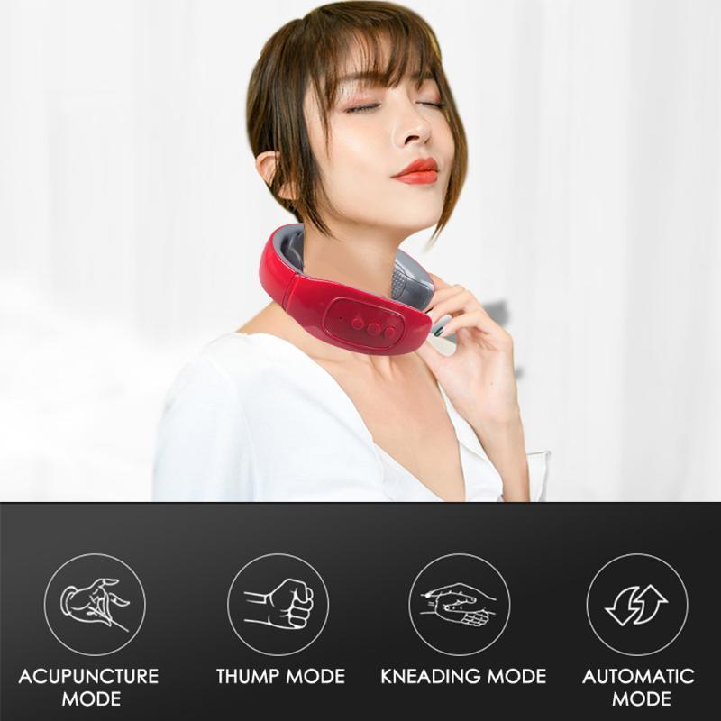 Neck massageador elétrico Outdoor U Forma Massagem Pillow vértebra cervical massageador elétrico Almofada de massagem portátil Pillow