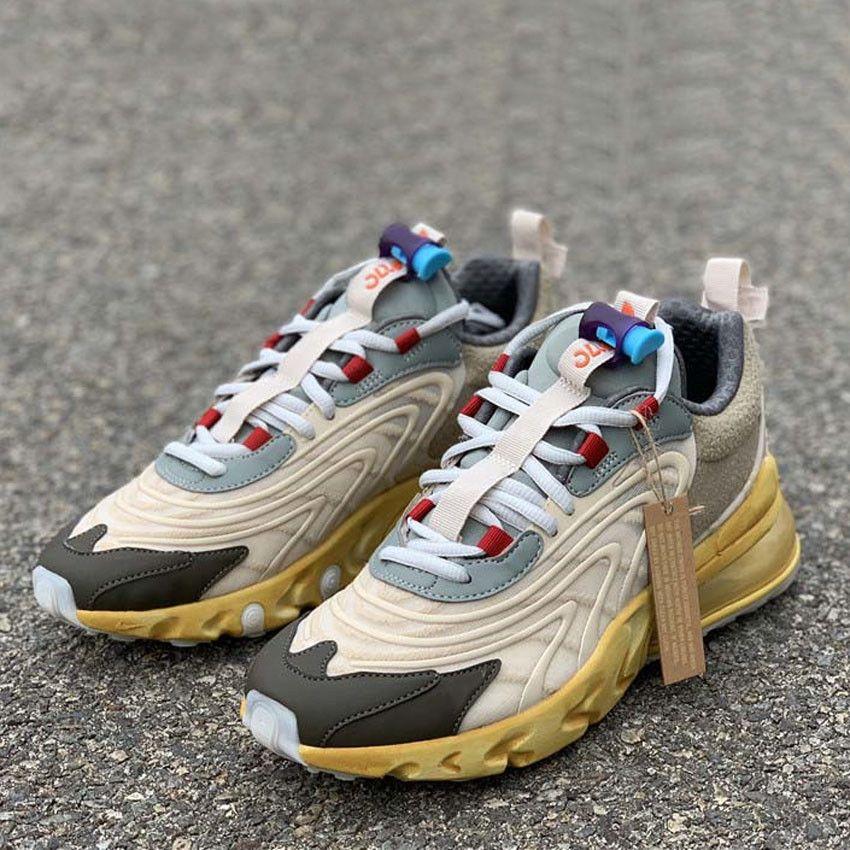 Nova Lançamento Travis Scotts x Eng Reage Ourdoor Sapatos Casuais Cacto Trilhas Jack Runner Sapatos Estrela do Mar Negro Dark Homens Mulheres Esportes Sneakers