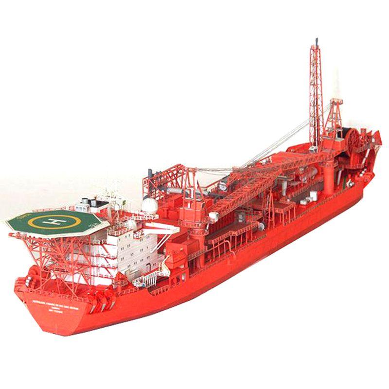 1: 400 Norwegian FPSO production Offshore Floating citerne modèle 3D 45cm * 8cm modèles de papier des navires