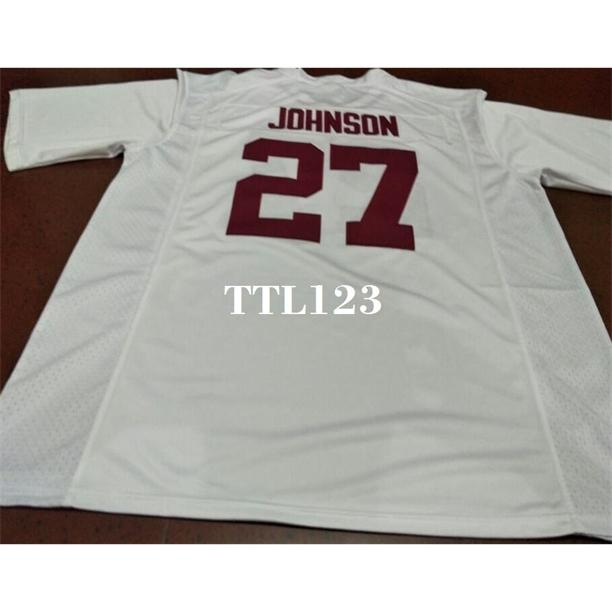 121 # 27 Austin Johnson Alabama Crimson Maréfiante Red Black College Blanc En Jersey ou personnalisé N'importe quel nom de nom ou numéro de numéro