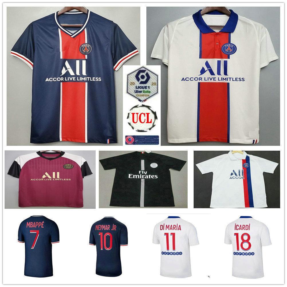 2020 2021 Paris Soccer Jerseys MBAPPE DI MARIA ICARDI VERRATTI NEYMAR JR Custom 20 21 Home Away Third Men Woman Kids Football Shirt
