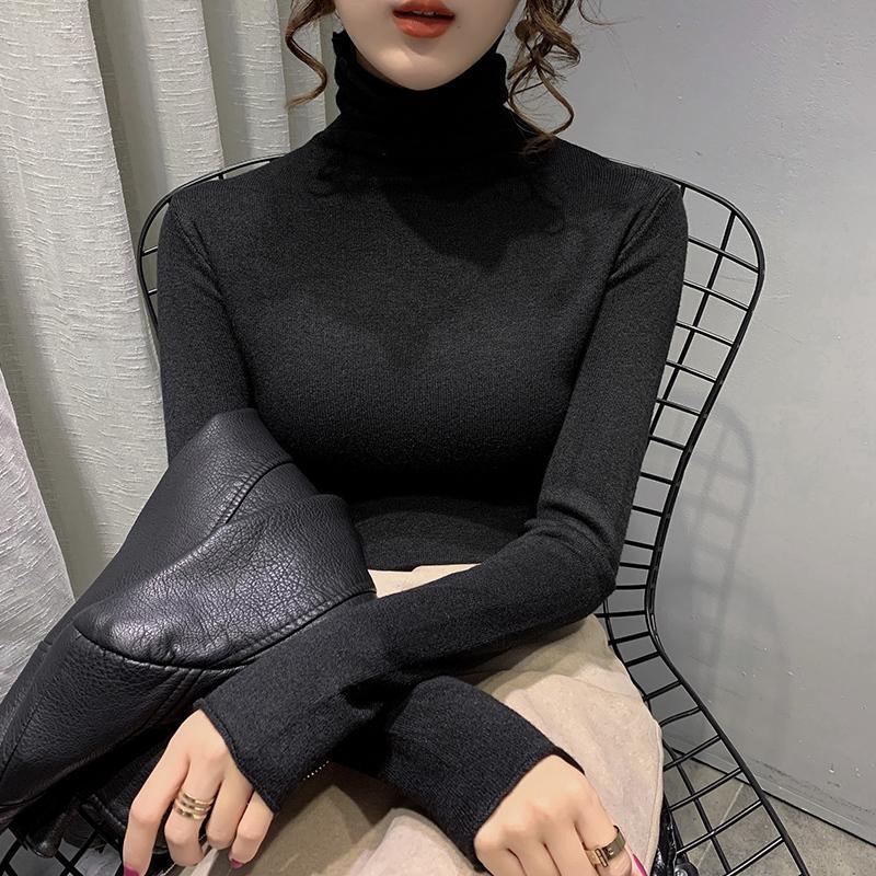 Sexy Slim Turtelneck Maglione stile coreano Top pullover inverno manica lunga Turtelneck Maglione Ropa Mujer Abbigliamento da donna DB60MY