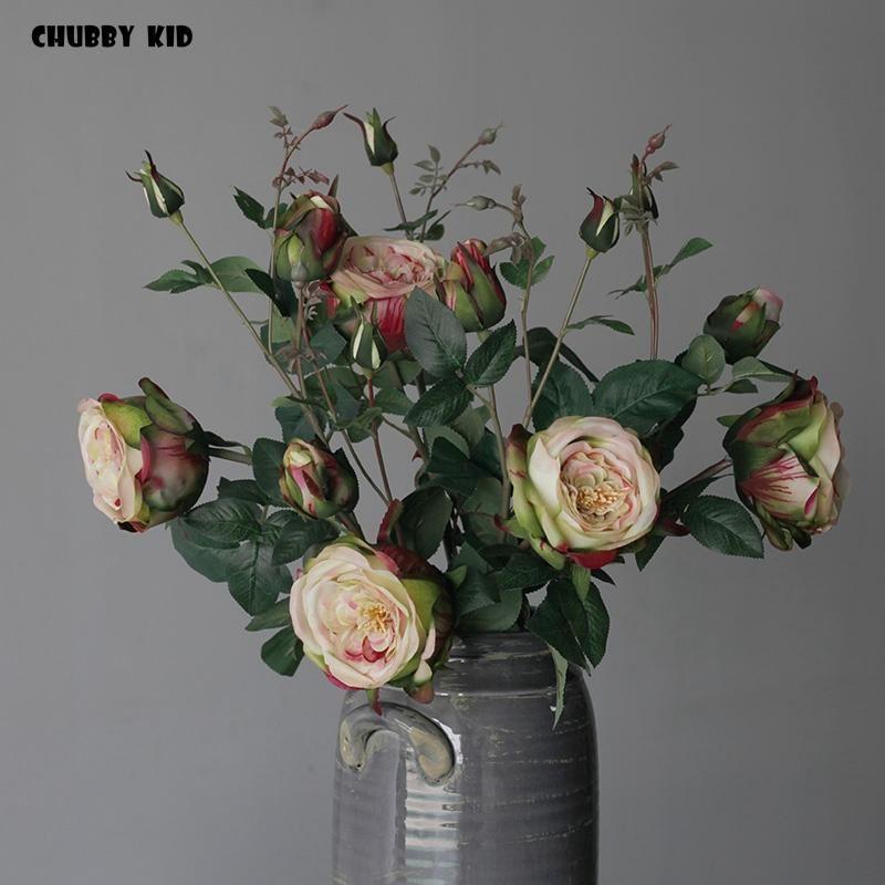 rosa del tacto verdadero decoraciones de Navidad para el hogar flores de peonía artificial Decoración de la boda marrige decorativo flor Party Decor