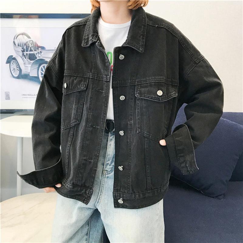 Outwear vestiti corti Bomber Loose Women jeans lunghi manica della giacca Retro cowboy denim allentato Giacca casual Jean