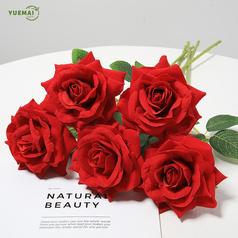 10Pcs Rose Artificial Flowers High Quality Branch Low Price Fake Flowers Wedding Home Decoration Accessories Valentines Day Gift