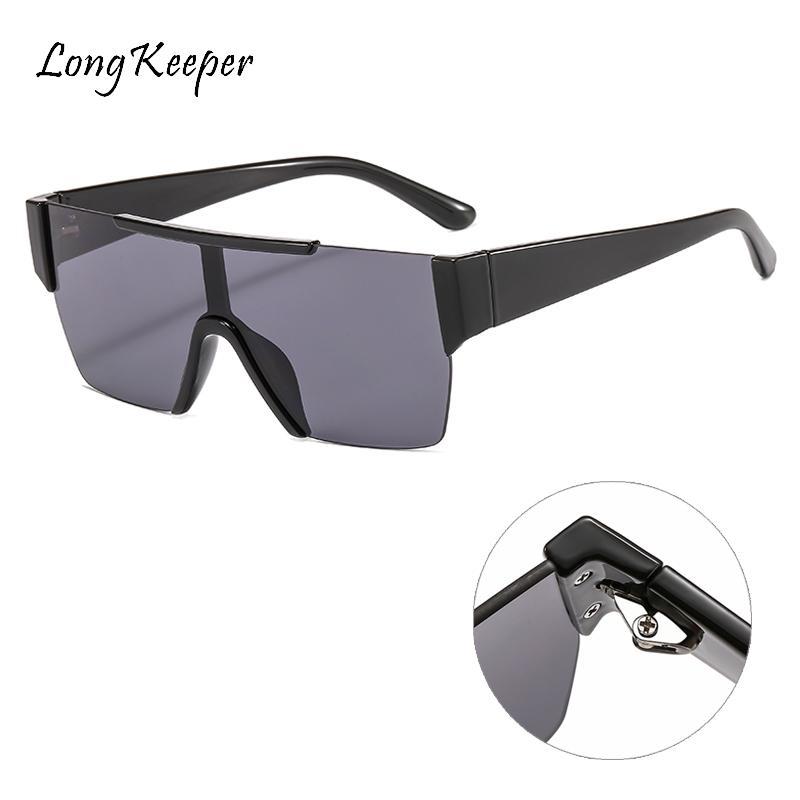 2020 Plaza Las mujeres forman a señoras de las gafas de sol de gran tamaño de la vendimia Gafas de sol grandes del capítulo Gradiente Sombras Negro Gafas de