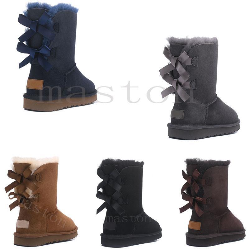 2020 Avustralya Wgg Avustralya Çizmeler Kadın Boot Kar Kış Terlik Botas Australianas Kürk Boot Yeni D9V6 #