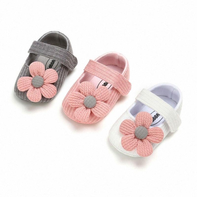 Baby Erste Wanderer Kleidung Kinder Kleinkind-Baby-weiche Sohle Krippe Schuhe Erste Wanderer Rüschen Princess Mädchen Schuhe QS9b #