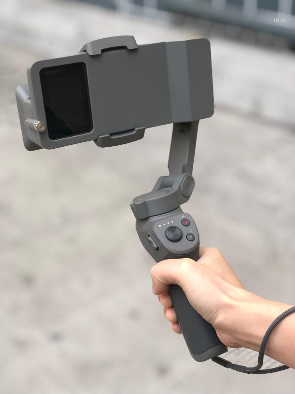 El Gimbal Adaptörü Anahtarı Dağı DJI Osmo Mobil 3/4 Için Kahraman 7 6 5 Siyah Eylem Kamera Anahtarı Plaka Adaptörü Vlog1