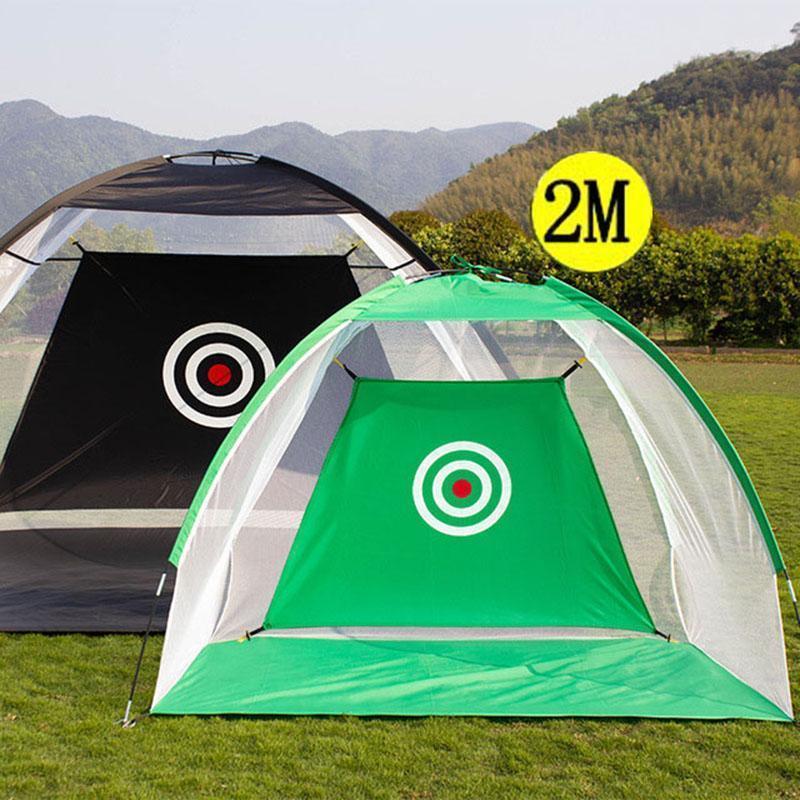 Golf Training Aids 2M Practice Net Hitting Cage Indoor Outdoor Garden Grassland Tent Home Sports Equipment XA147+A1