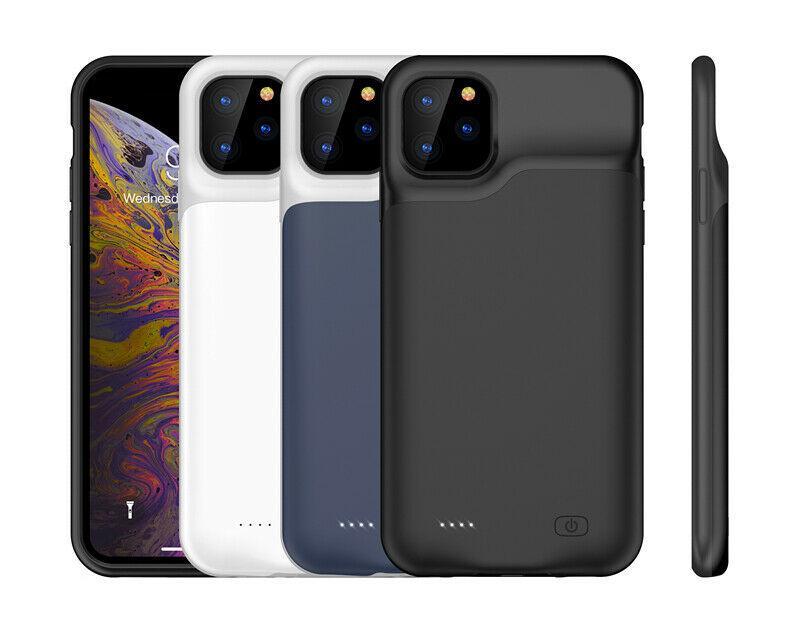 8000mAh 아이폰 (12) 프로 맥스 / 12 프로 / 12 최대 / 12 외부 부드러운 실리콘 슬림 배터리 전원 케이스 은행 충전기 백업 커버