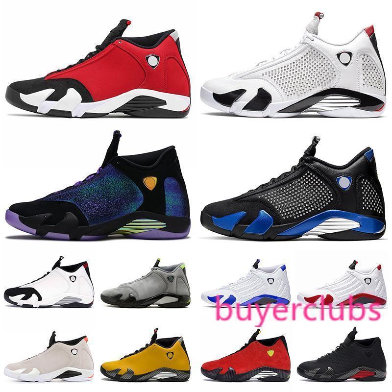 2020 New Jumpman 14s Gym Basketball Hommes Chaussures Rouge 14 Hyper Royal University candy cane Red DB Doernbecher de Thunder Formateurs de sport Chaussures de sport