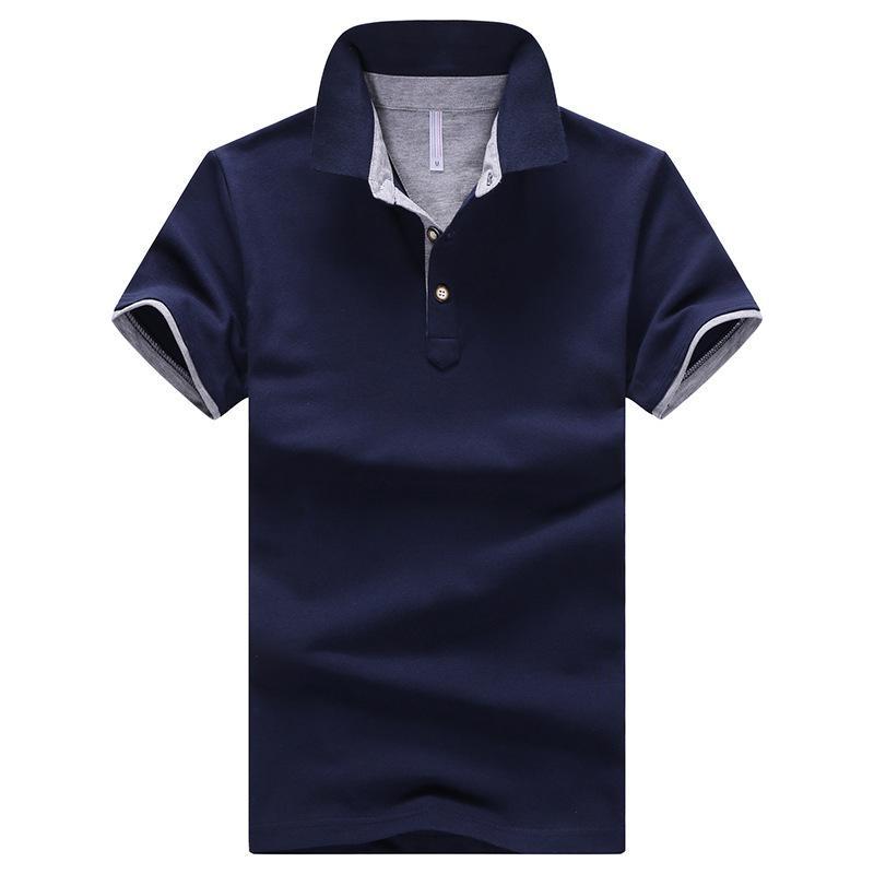 Camisa de algodón puro de verano camiseta boutique de manga corta ropa de hombre