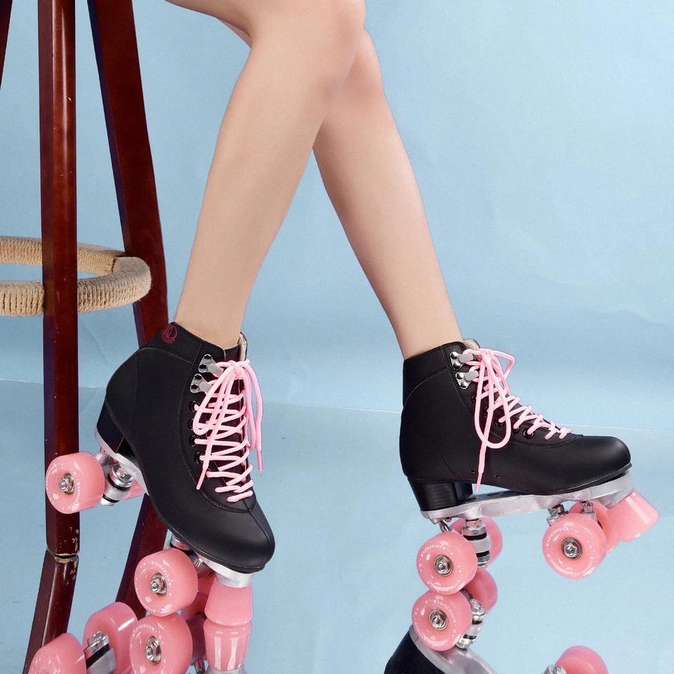 Rouleau à rouleaux rouleaux patins quad 4 roues skate chaussures # 2N9i