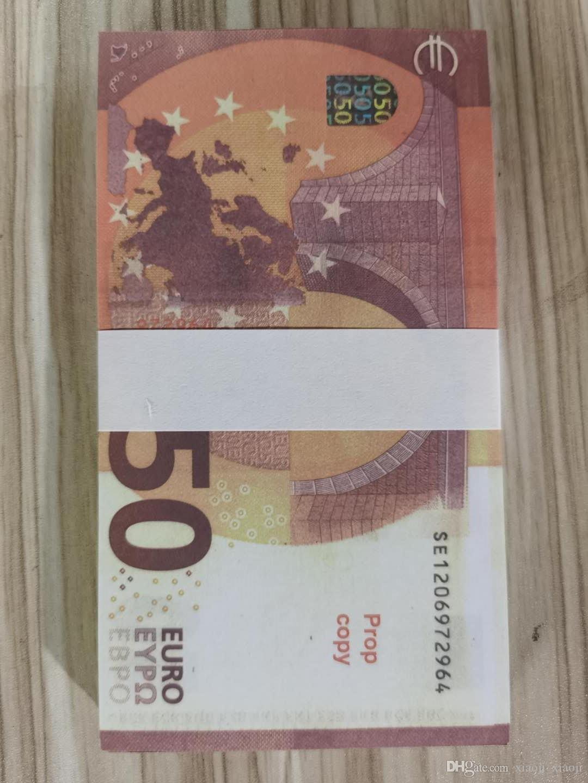 Kids 100pcs / pack banknote или бумажная копия / Евро / доллар Семья США США Большинство Игра Реалистичные Toy036 WFQSH