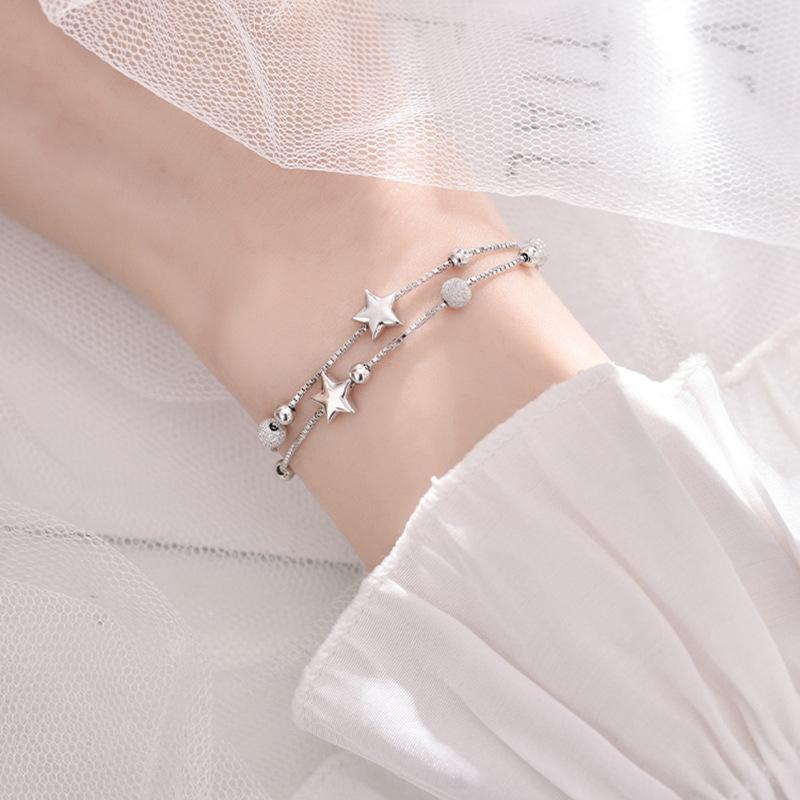 Stern Sterling Silber Frauen ins Hand Ornament Minderheit Design Sinn pentastar Sen Student Armband ethnischen Armband Geschenk Schmuck FAmux