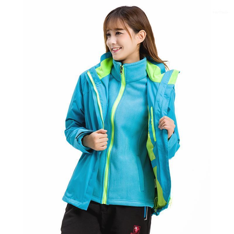 Chaqueta al aire libre Mujer 3 en 1 Capa doble a prueba de viento Ski Ski Ski Spleen Abrigo de invierno impermeable para las mujeres1