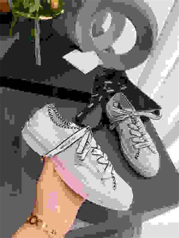 Chanel top Piattaforma Vera Pelle pigro Scarpe Donna Shallow Slip On Mocassini Donne appartamenti casuali qlm200728