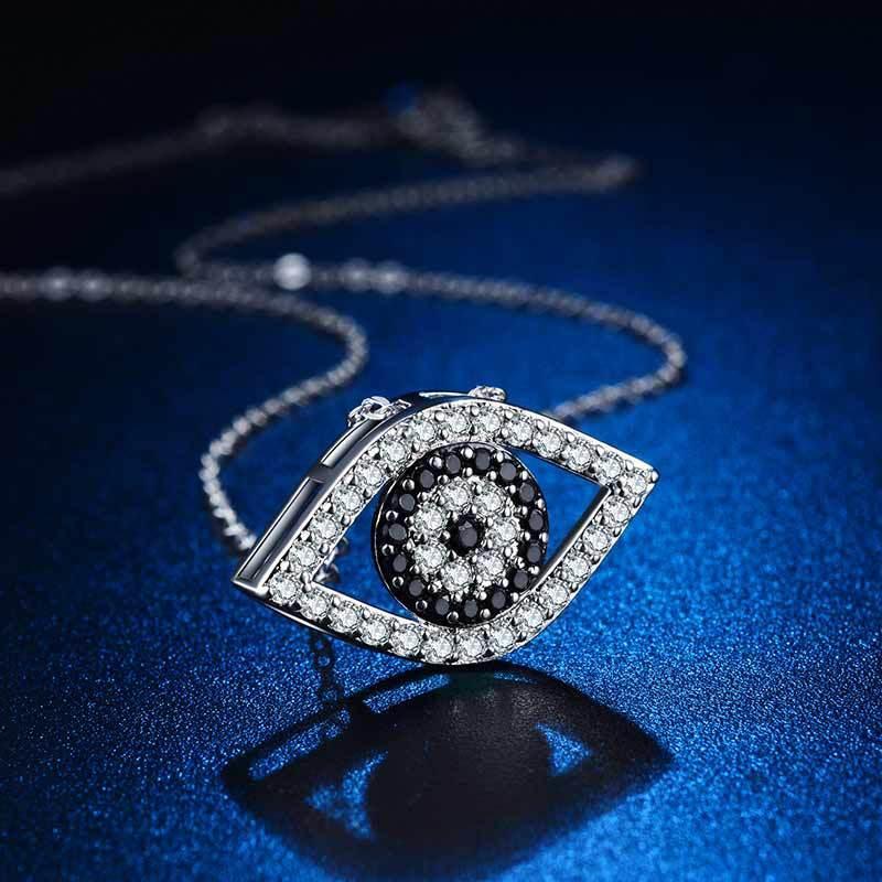 الكريستال العين قلادة الحجر الأسود قلادة المرأة القلائد الأزياء والمجوهرات سوف والرمل