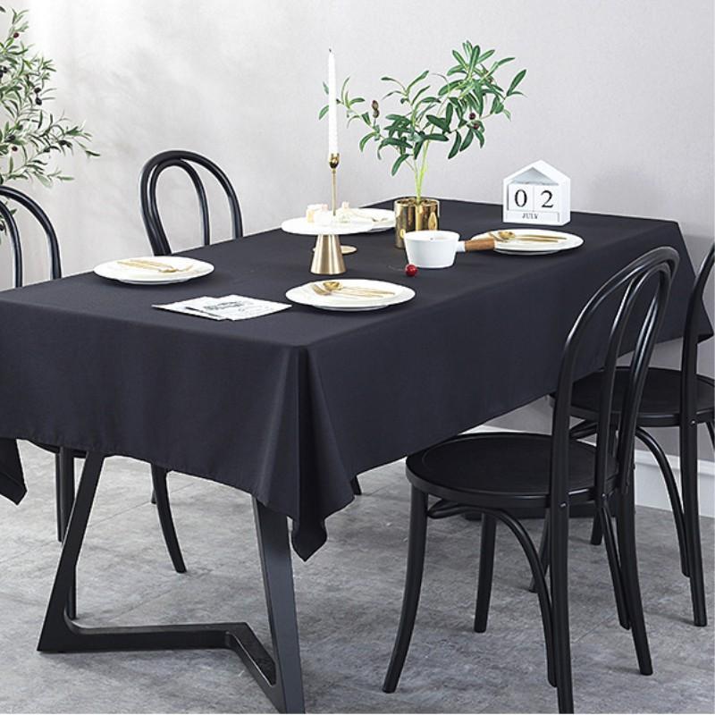 Color de algodón de color sólido mantel impermeable al por mayor ventas directas de mesa de café cubiertas de mesa de boda decorationtableclots