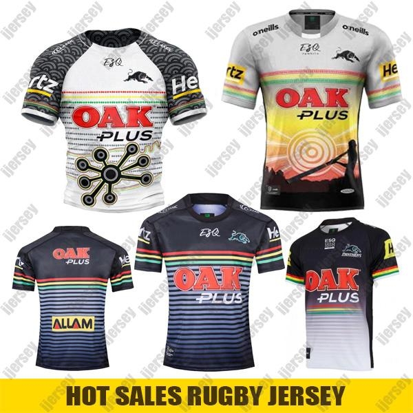 Maillot de rugby autochtones Penrith Panthers 2019 2019 2020 Accueil Jersey Marvel Rugby à XV Rugby à XV Rugby Australia NRL chemises taille S-3XL