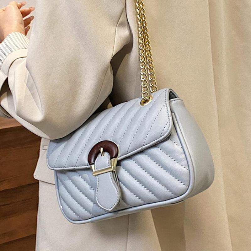 Messenger Designer Crossbody New 2021 Square Shoulder High-quality Bag Leather Fashion Women's Handbag Chain Embroidery PU Npqhc