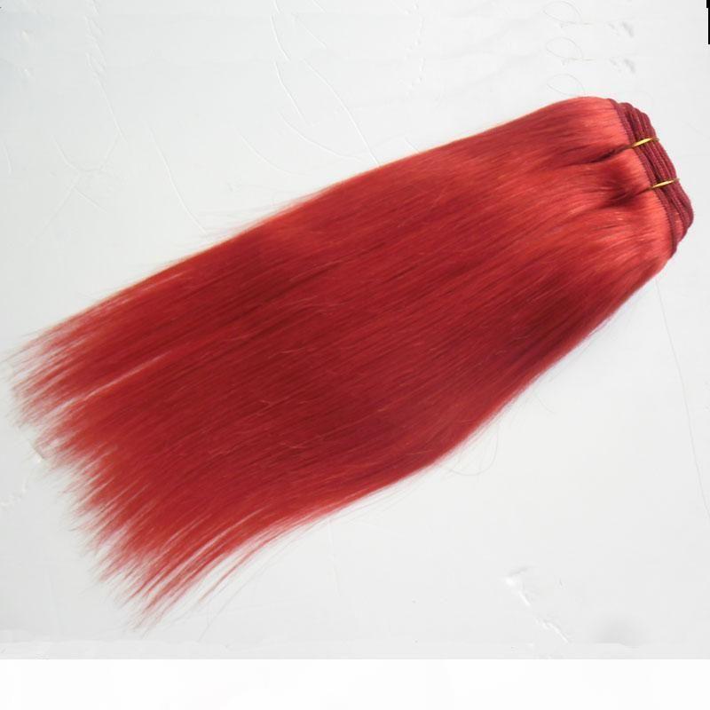 Droit brésilien Cheveux 1 Bundles Deal cheveux Weave ROUGE naturelle Livraison gratuite Remy Hair