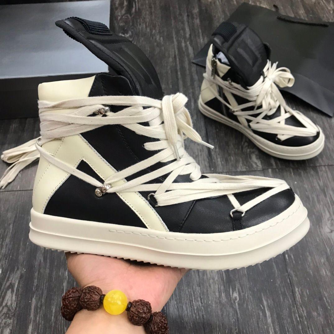 حار مصمم الرجال امرأة الأحذية أزياء الشتاء الرجال الأحذية الخريف الأحذية جلدية للرجل جديد عالية أعلى الأزياء الأحذية