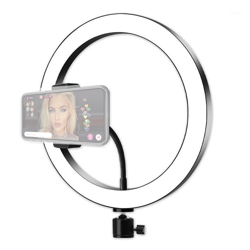 Luz de anillo LED grande para la cámara Selfie Lámpara Anillo para el soporte de teléfono de iluminación fotográfico de maquillaje con trípode soporte youtube1