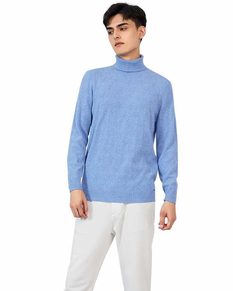 Suéter de trut de cachemira de Zhili Hombre 100%