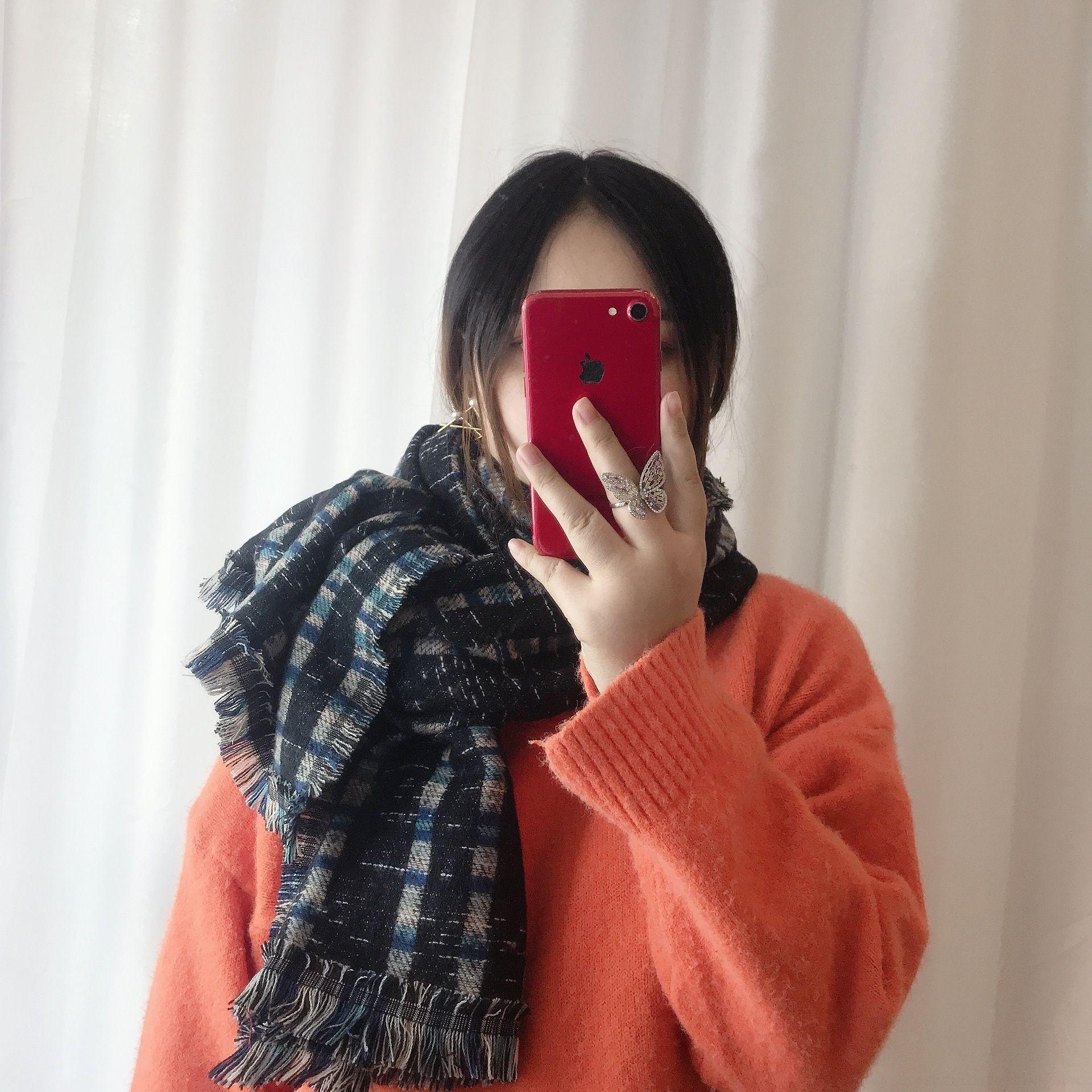 EVJH 90 * 90 cm bufanda retro estampado de seda bufanda de la línea de color Bloque de color Mujeres 55 g para la costura de sujeción de lujo-seda