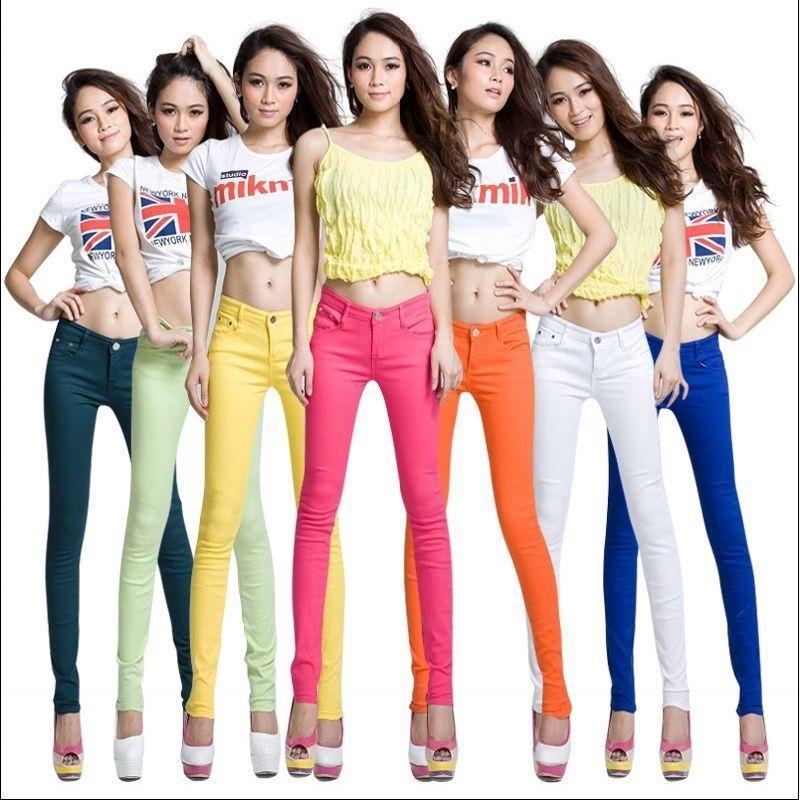 Donne 2021 Primavera Autunno Autunno Slim Slimny Skinny Skinny Life Jeans Ladies Denim Matita Stretch Jean Pants Plus Size L491