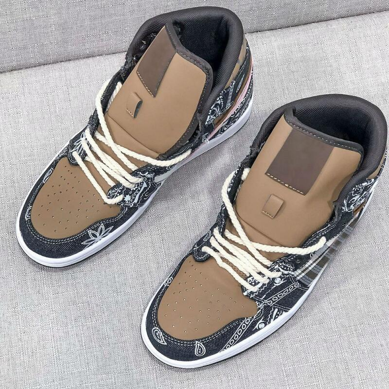 Новый 1 Высокий Трэвис Скотт 1S TS Джинсовая баскетбольная обувь Женская мужская спортивная обувь Кактус Джек кроссовки мужские кроссовки US5.5-11