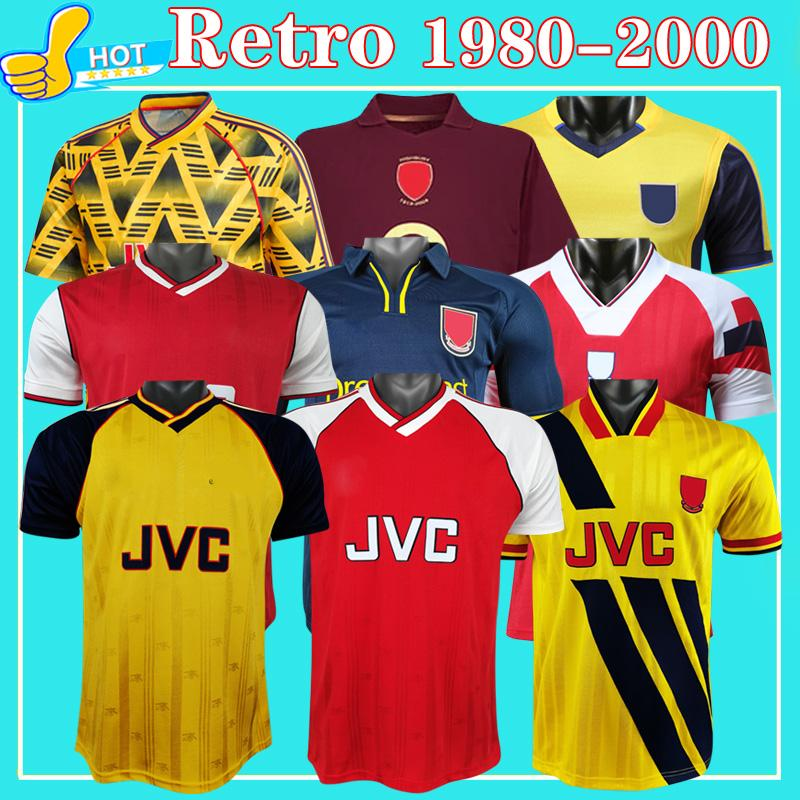 Retro Soccer Jersey Arsen Gunner 86 88 90 91 92 93 94 99 00 Season