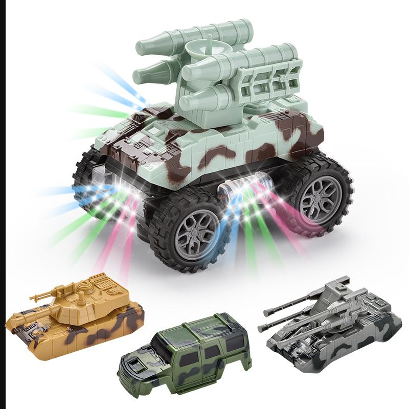 New style electric universal vehicle with replaceable shells with lights and music toy car kid gift