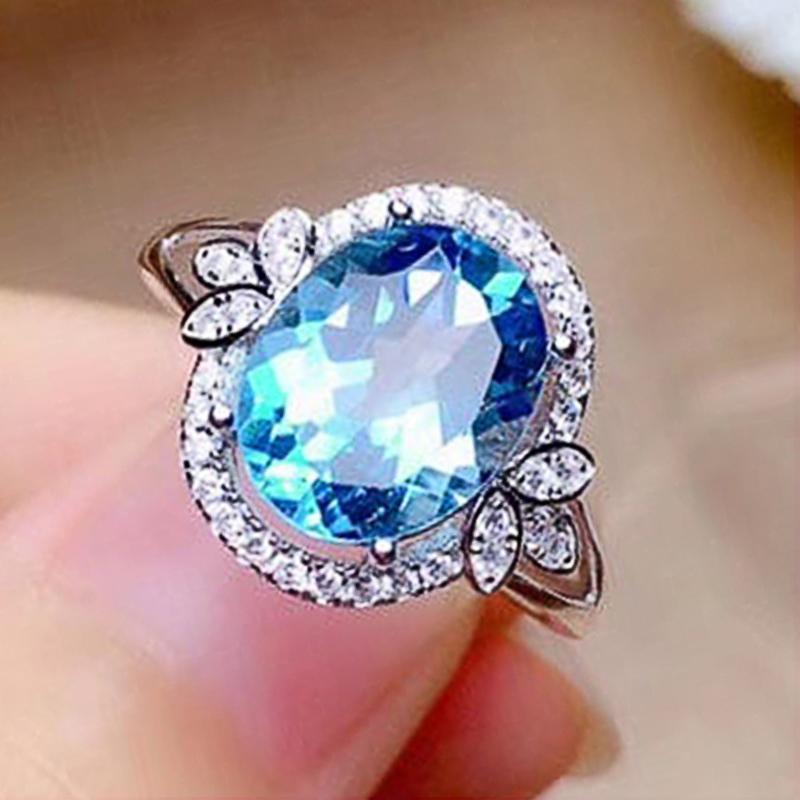 Februaryfrost Brand Romantic Round Shape Women Ring Brilliant CZ Stone Female Wedding Party Anniversary Birthday Gift Trendy Ring Jewelry
