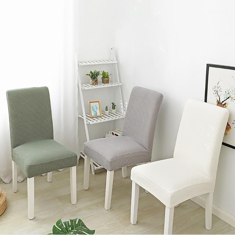 Couverture de chaise élastique de haute qualité Épaissir Protecteur de siège lavable en molleton Stretch Housse amovible pour Home Hotel Room1