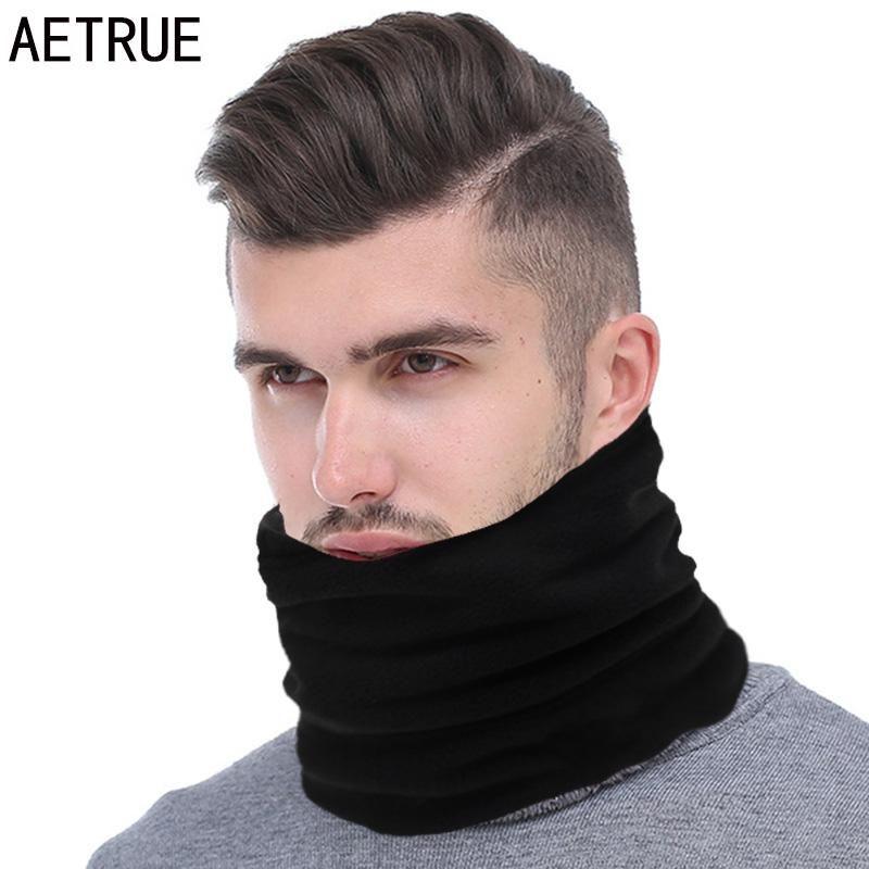 Sciarpa di inverno AETRUE Moda Uomo Anello donne a maglia sciarpe per Uomini collo scialle Snood Ordito collare caldo maschio morbido pile Sciarpe