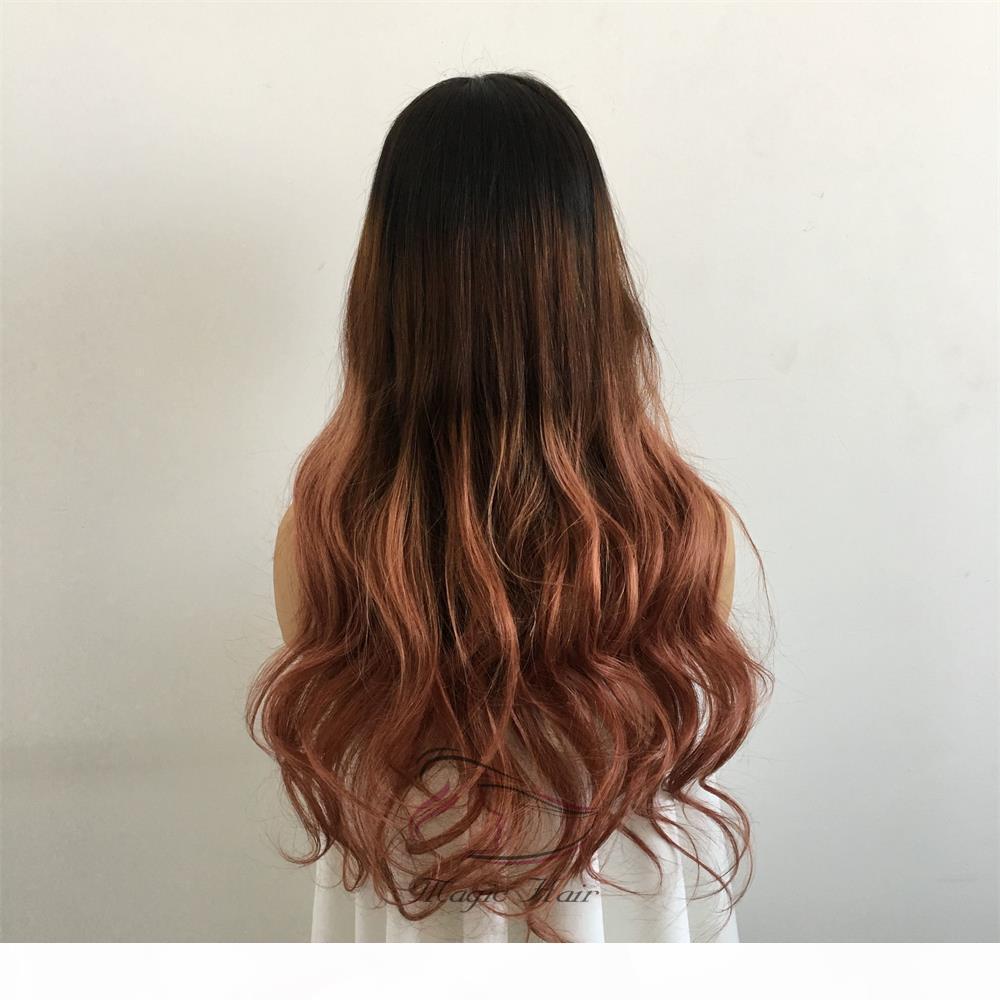 360 полный волос кружева парики человеческого Pre щипковых бразильский волос Remy ломбера цвет T 1B 4 30а естественная волна человеческих волос Парики