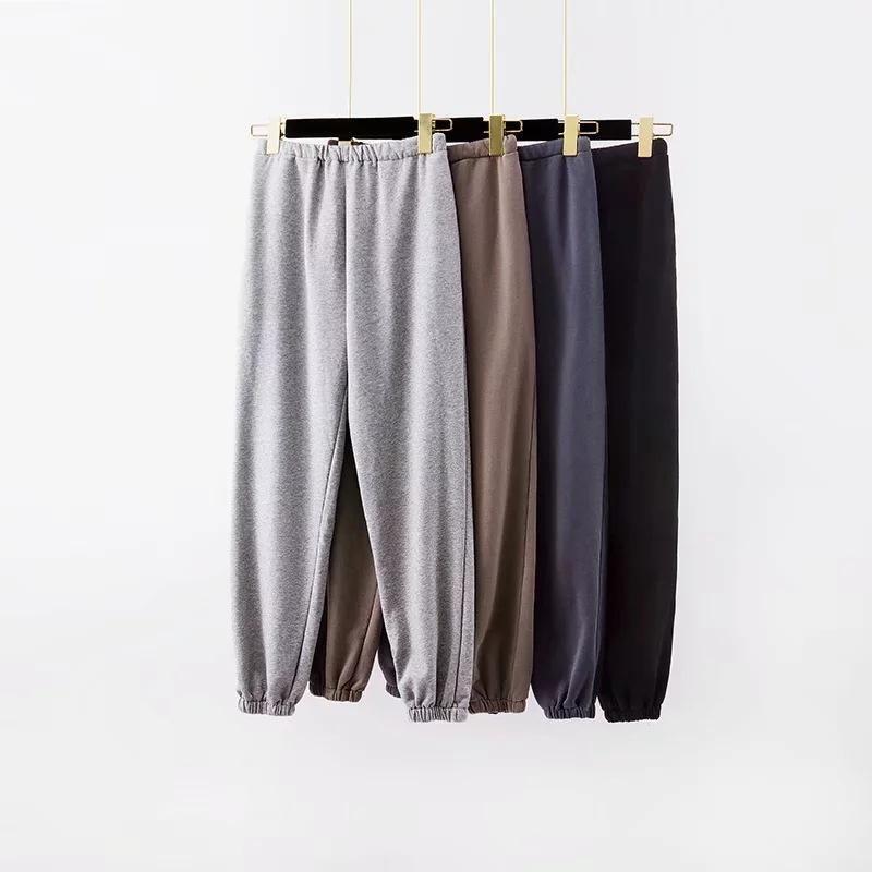 Женские брюки CAPRIS SEXY Свободные моды женские пробежки грузовые брюки высокие эластичные Wasit серые спортивные штаны одежда1